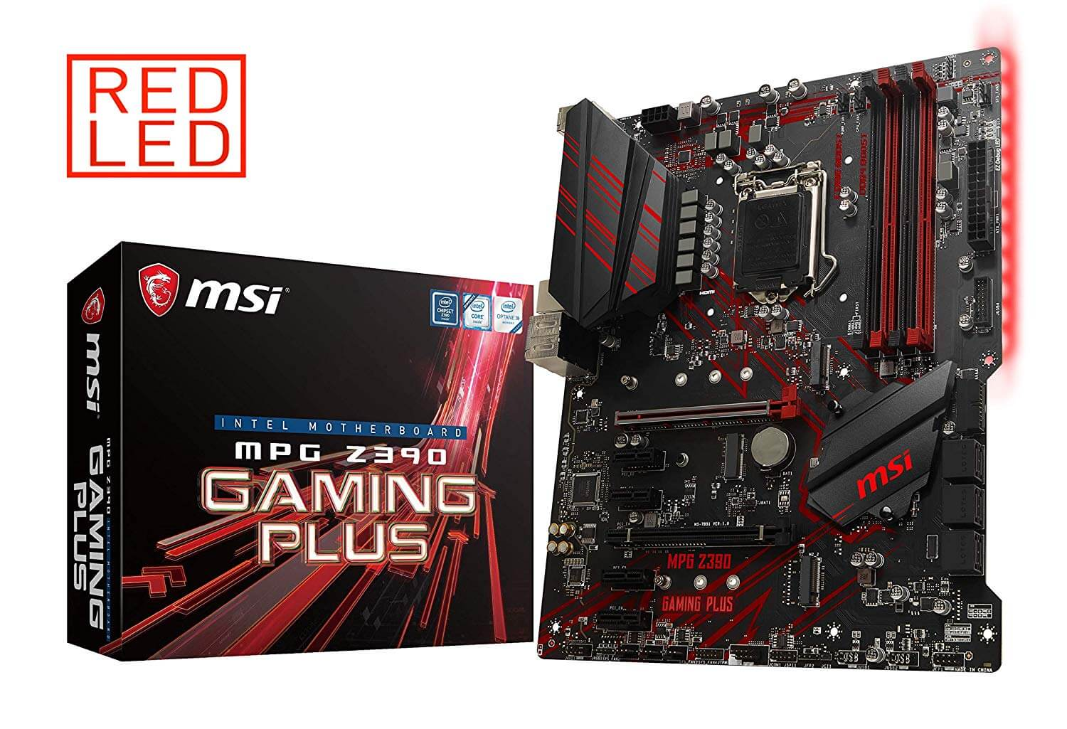 MSI MPG Z390-GAMING PLUS, Onboard Video HDMI, DVI, X-Fire, GB LAN,  USB 3.1 2nd, USB-C