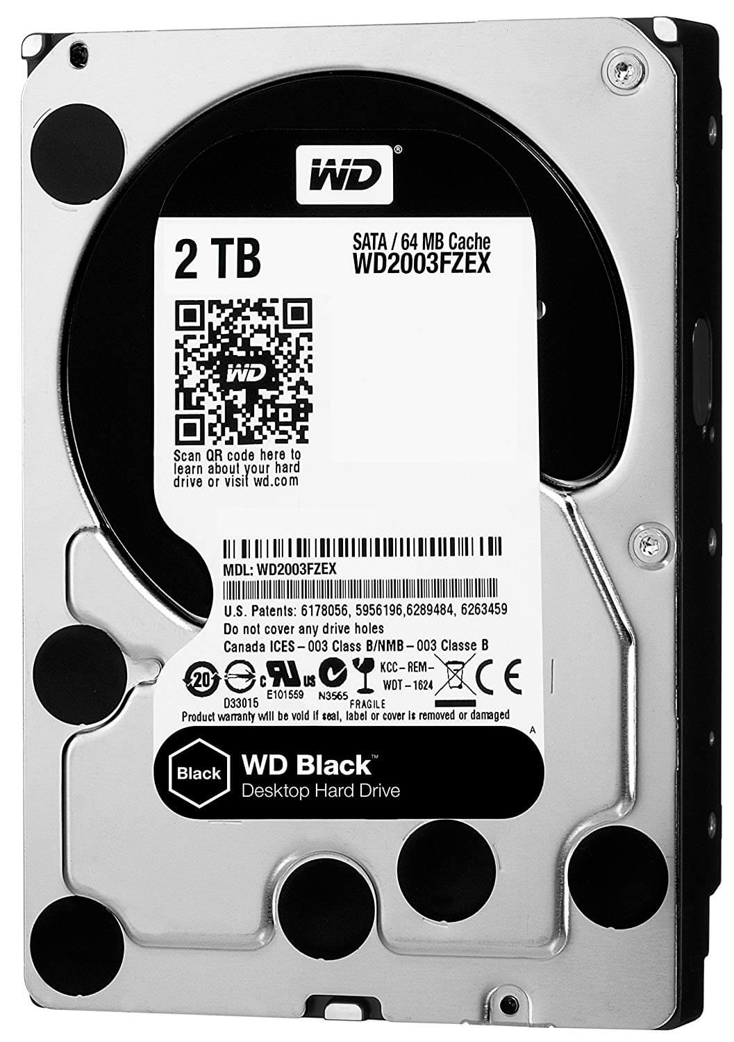 2.0TB Western Digital Black 7200RPM SATA3 6GB/s 64m cache