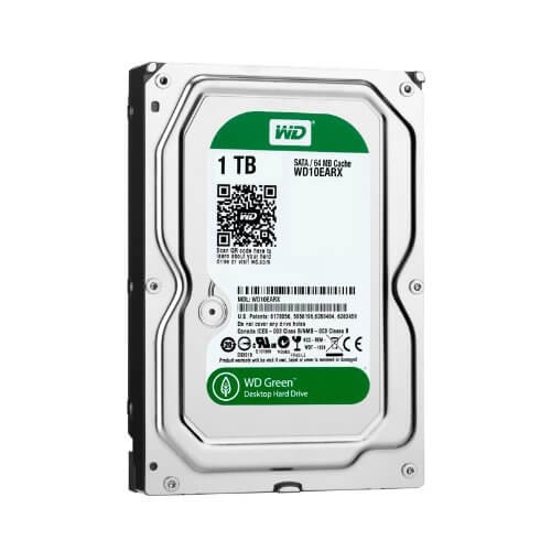 1.0TB Western Digital Green SATA3 6GB/s 64m cache