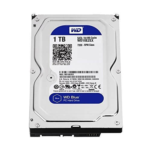 1.0TB Western Digital Blue 7200RPM SATA 3 6.0Gb/s 32m cache