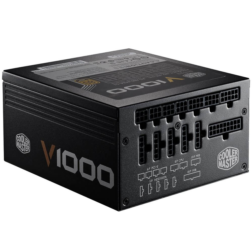 CoolerMaster V1000 Fully Modular 1000W ultra quiet ATX Power Supply, SLI & X-fire ready